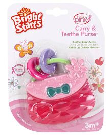Bright Starts Pretty In Pink Carry Teethe Purse