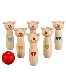 Classic World Wooden Little Bear Bowling