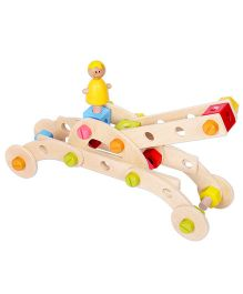 Classic World Wooden Construction Set 60 Pieces - Multicolor