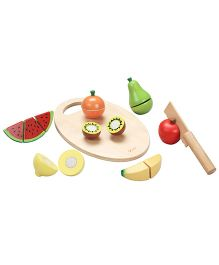 Classic World Wooden Cutting Fruit Set 17 Pieces - Multicolor