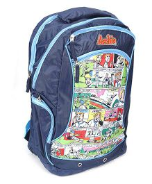 Archie School Bag 17 Inches - Navy Blue