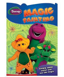 Barney Magic Painting Shaped Book- English