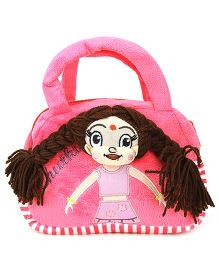 Dimpy Stuff Chutki Hand Bag Pink - 8 Inches
