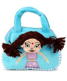 Dimpy Stuff Chutki Hand Bag Blue - 8 Inches