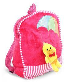 Dimpy Stuff School Bag Animal Applique Pink - 11 Inches