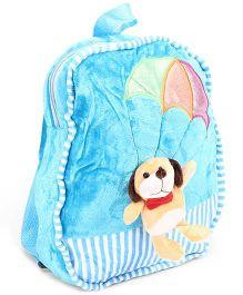 Dimpy Stuff School Bag Animal Applique Blue - 11 Inches