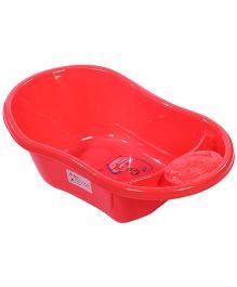 Baby Bath Tub Happy Print - Red