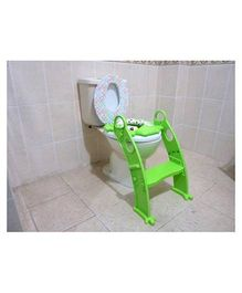 Elefantastik Potty Seat With Adjustable Ladder - Green