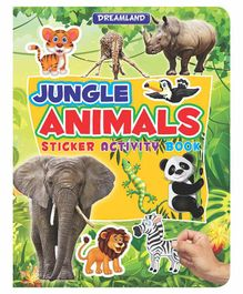 Sticker Activity Book Jungle Animals - English
