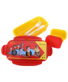 Chhota Bheem Super Lock And Seal Lunch Box - Red