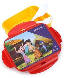 Chhota Bheem Lunch Box With Fork And Spoon