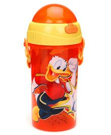 Disney Mickey Mouse And Friends Sipper Bottle Orange And Yellow - 380 ml