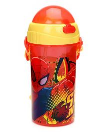 Spider Man Sipper Bottle Red And Yellow - 380 ml