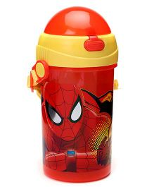 Marvel Spider Man Printed Sipper Bottle Red - 500 ml