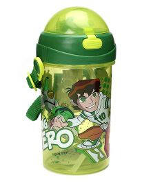 Ben 10 Printed Sipper Bottle Green - 500 ml