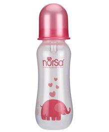 Nursa Shaped Feeding Bottle Pink - 250 ml