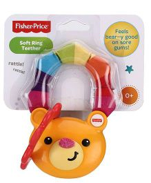 Fisher Price Woodland Friends Tactile Teether Ring - Orange