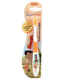 Dentoshine Chhota Bheem Toothbrush For Kids Soft - Orange
