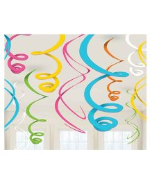 Wanna Party Multicolor Swirl Decoration - 10CT