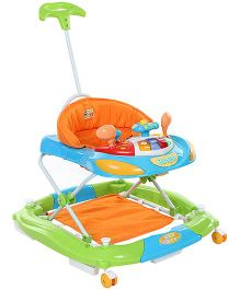 Mee Mee Walker Cum Rocker With Push Handle - Green Blue Orange