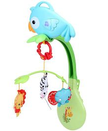 Fisher Price Rainforest Friends 3 In 1 Musical Mobile - Multicolor