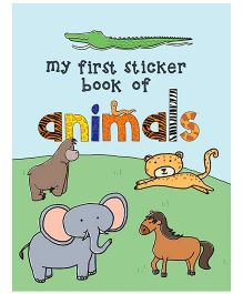 Young Angels My First Sticker Book Of Animals - English