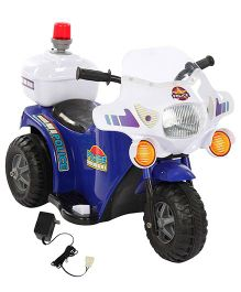 Battery Operated Bike Ride On - Blue And White