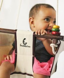 CuddlyCoo Baby And Toddler Swing - White
