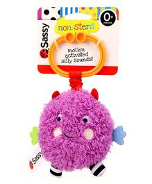 Sassy Non-Sters Bo-Bo Activity Ball Stroller Clip On Purple - Length 17.5cm