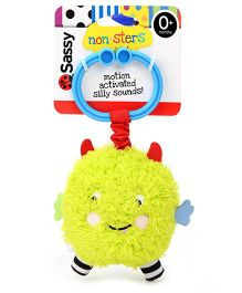 Sassy Non-Sters Bo-Bo Activity Ball Stroller Clip On Green - Length 17.5cm