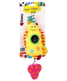 Sassy Non-Sters Chime n Chew La-Lee Stroller Clip On Yellow - Length 21 cm
