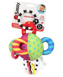 Sassy Loopy Ball Stroller Clip On Multicolor - Length 24 cm