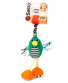 Sassy Chime Bird Stroller Clip On Green - Length 27 cm