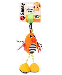Sassy Chime Bird Stroller Clip On Orange - Length 27 cm