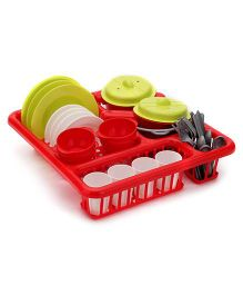 Ecoiffier Bubble Cook Big Draining Board With Dining Set