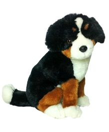 Soft Buddies Premium Puppy Sitting Black And Brown - 28 cm