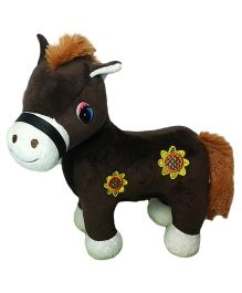 Soft Buddies New Horse Soft Toy Dark Brown - Height 6 Inches