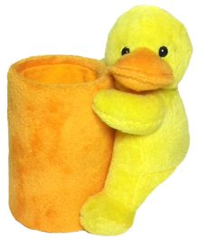 Soft Buddies Duck Utility Holder Yellow - Height 6.4 Inches