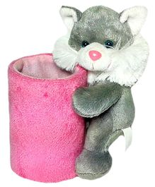 Soft Buddies Cat Utility Holder Grey - Height 6.4 Inches
