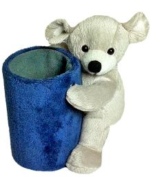 Soft Buddies Bear Utility Holder Grey - Height 6.4 Inches