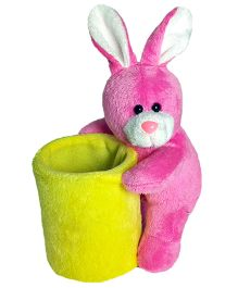 Soft Buddies Bunny Utility Holder Pink - Height 6.4 Inches