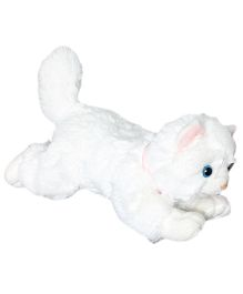 Soft Buddies Lying Cat Soft Toy White Small - 12 cm
