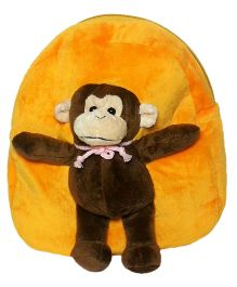 Soft Buddies Plush Toy Bag With Monkey - Yellow