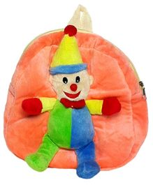 Soft Buddies Plush Toy Bag With Clown - Multicolour