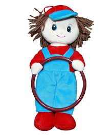 Soft Buddies Kevin Doll Napkin Holder Red And Blue - Height 11 Inch