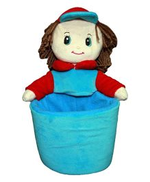 Soft Buddies Kevin Doll Utility Holder Blue And Red - Height 10 inch