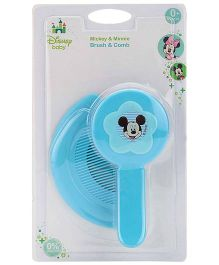 Disney International Mickey And Minnie Brush And Comb Set - Blue