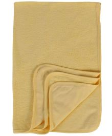 Child World Bath Towel Fish Print - Yellow