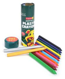 Camel Artica Plastic Crayons - 12 Shades