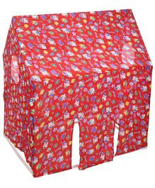 Lovely Play Tent House Floral Print - Red